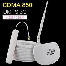 ATNJ 70dB ALC CDMA 850 B5 الهاتف المحمول إشارة الداعم 2g 3g GSM UMTS 850mhz الخلوية الهاتف المحمول مكرر إشارة مكبر للصوت