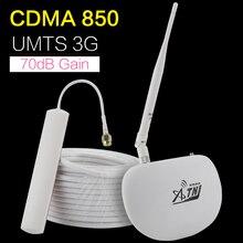 ATNJ 70dB ALC CDMA 850 B5 cep telefonu sinyal güçlendirici 2g 3g GSM UMTS 850mhz hücresel cep telefonu sinyal tekrarlayıcı amplifikatör anten