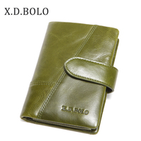 BOLO Women Wallet Female Genuine Leather Coin Purse and Small Walet Portomonee Lady Money Green Zipper Perse Card Holder Purse
