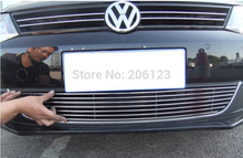 High quality stainless steel Front Grille Around Trim Racing Grills Trim For 2012-2013 Volkswagen VW Jetta/Sagitar