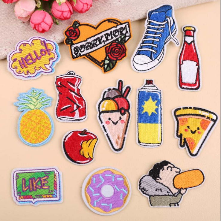 Loyal New Arrival 10 Pcs Flowers Words Embroidered Cartoon Patches Iron On Jeans Coat T-shirt Bag Shoe Hat Motif Emblem Accessory Diy Home & Garden