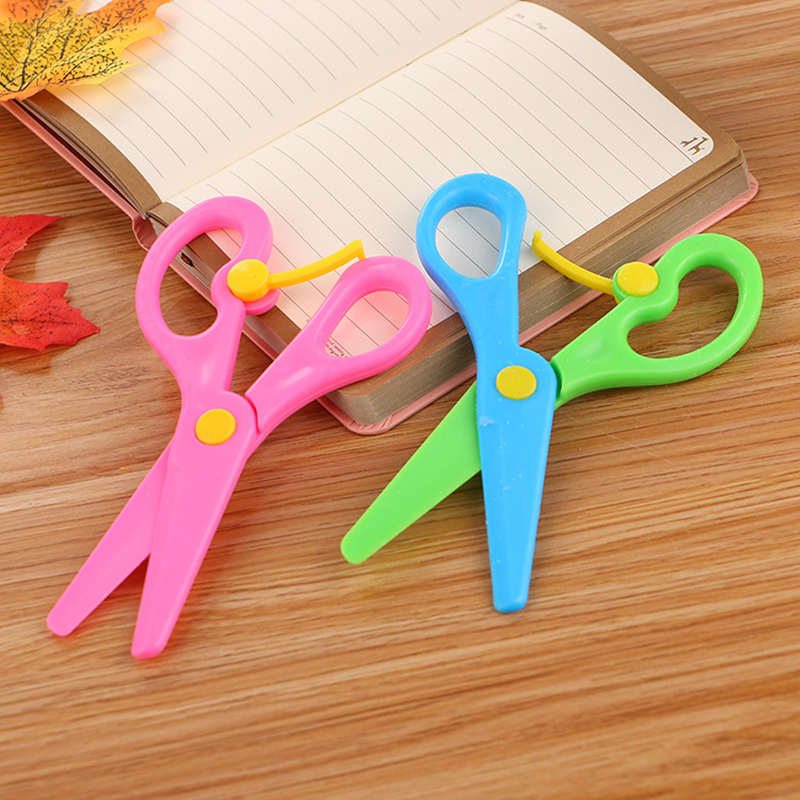 Peerless Plastic Safety Scissors Diy Handmade Cutting Paper Wallpaper Sscissors Gifts For Children Toy School Supply 125mm*60mm Office & School Supplies