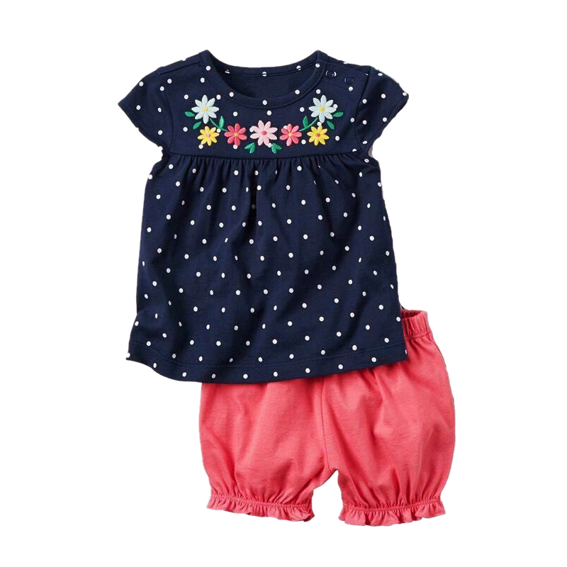 US 2PCS Toddler Kids Baby Girls Ruffle Top Polka Dot Pant Winter Outfits Clothes