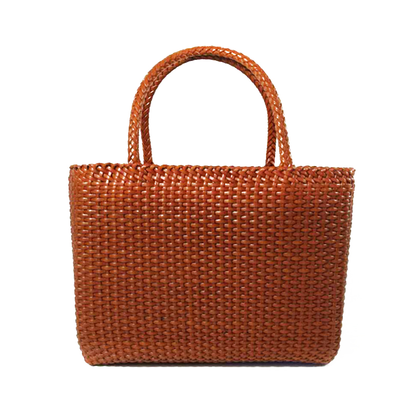 Casual Tote Women Bags Handmade Woven Leather Handbag Women Trend Top-handle Shoulder Bags Weave Pattern Summer Ladies Handbags new 100% handmade woven leather handbags tote women shoulder bags with detachable zipper pouch