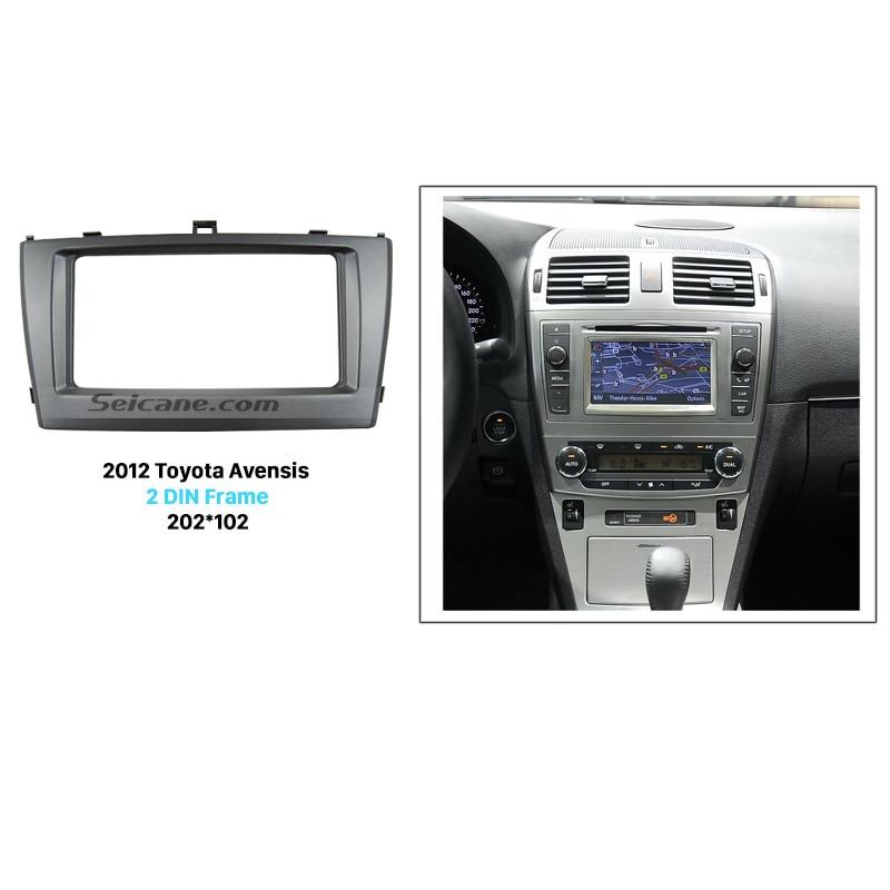 Seicane Exquisite 202*102 Double Din Car Radio Fascia for 2009-2013 Toyota Avensis DVD Frame In Dash Mount Kit Trim Bezel электрическая варочная панель bosch pkm646fp1r pkm646fp1r