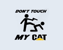 Don't Touch my CAT Caterpillar window LKW Baumaschiene Bagger Aufkleber Sticker  15cm