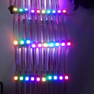 Image 4 - 100pcs/string DC5V WS2812B addressable rgb full color pixel light;5cm wire spacing;with transparent wire