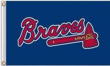 Atlanta Braves MLB Flag 3X5FT Flag Hot Products Sale 90×150 cm Outdoor Sports Flag Brass Metal Hole Custom Flag