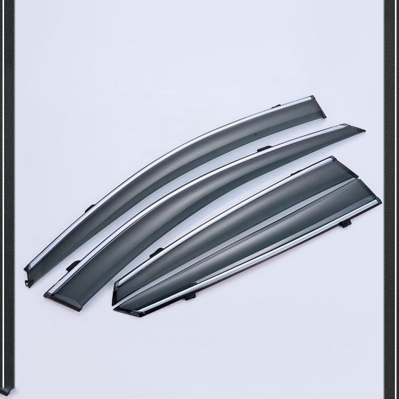 For Nissan Qashqai 2014 2015 2016 ABS Plastic Window Visors Awnings Rain Sun Deflector Guard Vent Covers Protector Car Styling for nissan qashqai dualis 2008 2013 window visor rain sun shield guard protector