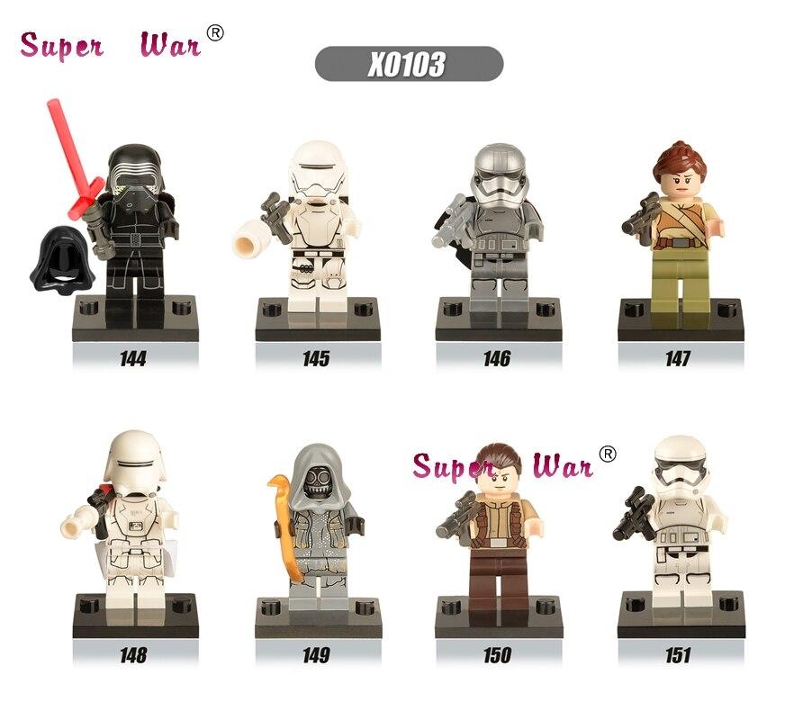 20pcs <font><b>star</b></font> <font><b>wars</b></font> <font><b>The</b></font> <font><b>Force</b></font> <font><b>Awakens</b></font> <font><b>SNOW</b></font> Flame Storm trooper Captain Phasma Kylo Ren building blocks figure bricks model diy toys