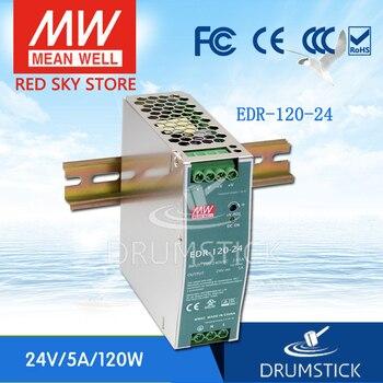 ثابت يعني جيدا EDR-120-24 24 فولت 5A ميانويل EDR-120 120 واط إخراج واحد الصناعية الدين السكك الحديدية