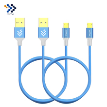 2 Pack WMZ Reversible Micro USB Cable 2A Fast Charging Data Cables Charger For Samsung S7 S6 Xiaomi 4 Huawei P8