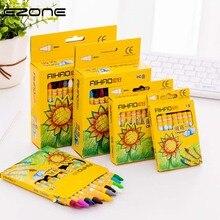 EZONE 8/12/24 Colors Crayon Children Non-toxic Pencils Cartoon Rabbit Sunflower Pattern Kids Graffiti Pens Painting Color Pen
