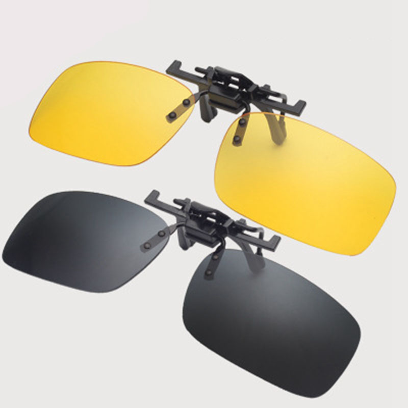 2 Pcs/set PC Car Driver Day And Night Vision Goggles Driving Sun Glasses UV400 Glasses 56mm*33mm