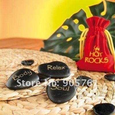 free shipping 2sets/lot(9pcs/set) Free Shipping Hot Stone Massage - Spa Hot Rocks