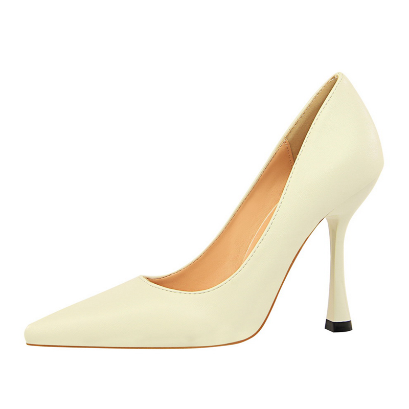 Brand Women Sexy Gradient Color Nightclub High Heels Women Pumps Stiletto Thin Heel Pointed Toe High heeled Shoes DS A0189 in Women 39 s Pumps from Shoes