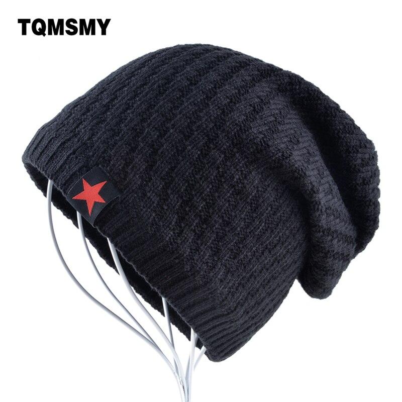 The New bonnet Red Star hat men's winter beanie man skullies Knitted wool beanies men Winter Hats Hip Hop caps Autumn gorros