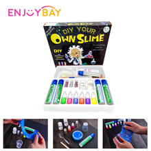Enjoybay 6 Colors DIY Slime Kit Crystal Mud Making Kit Jelly Magic Plasticine Adults Anti Stress Toy Kids Educational Clay Toy