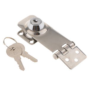 Image 1 - 1 Pcs Stainless Steel Hasp Lock Safety Lock Marine Hardware Boat Parts For Boat Marine Hatch/Cabin/Door
