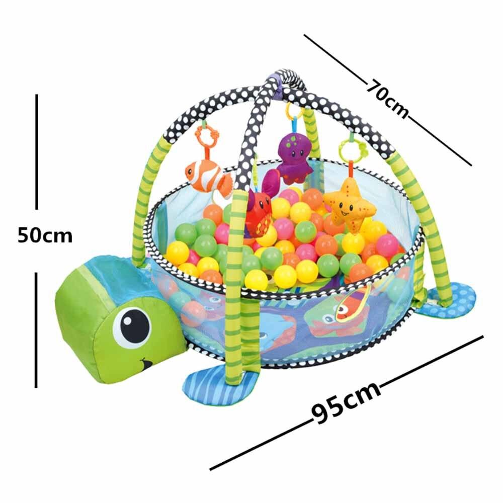 0-1 an 3-en-1 bébé tapis de jeu tapis de sport tapis ramper tapis dans la pépinière tortue jouet net support Marine balle piscine clôture J75 - 6