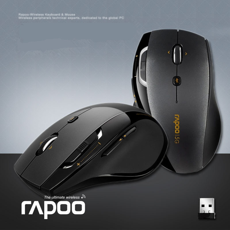 цена на Hot Sale Genuine Original Rapoo 7800P 5.8Ghz 9 Buttons Black Optical Wireless Mouse Computer Mice Free shipping
