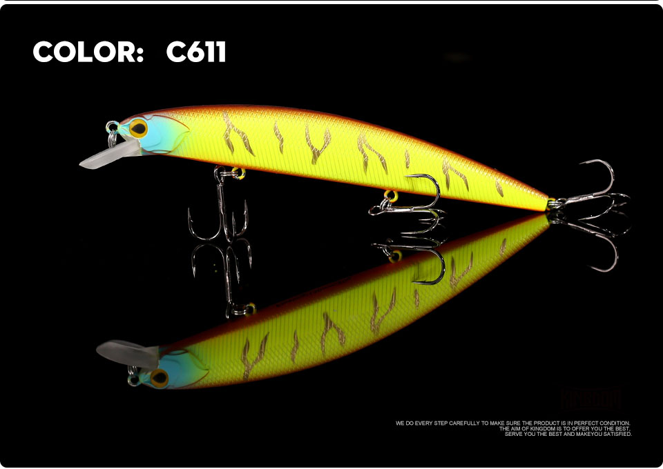 _09Kingdom 130mm20g Fishing Lure Jerkbait Floating Minnow Decoy Fishing Tackle Wobblers Strong Hook For Sea Water Model 3523
