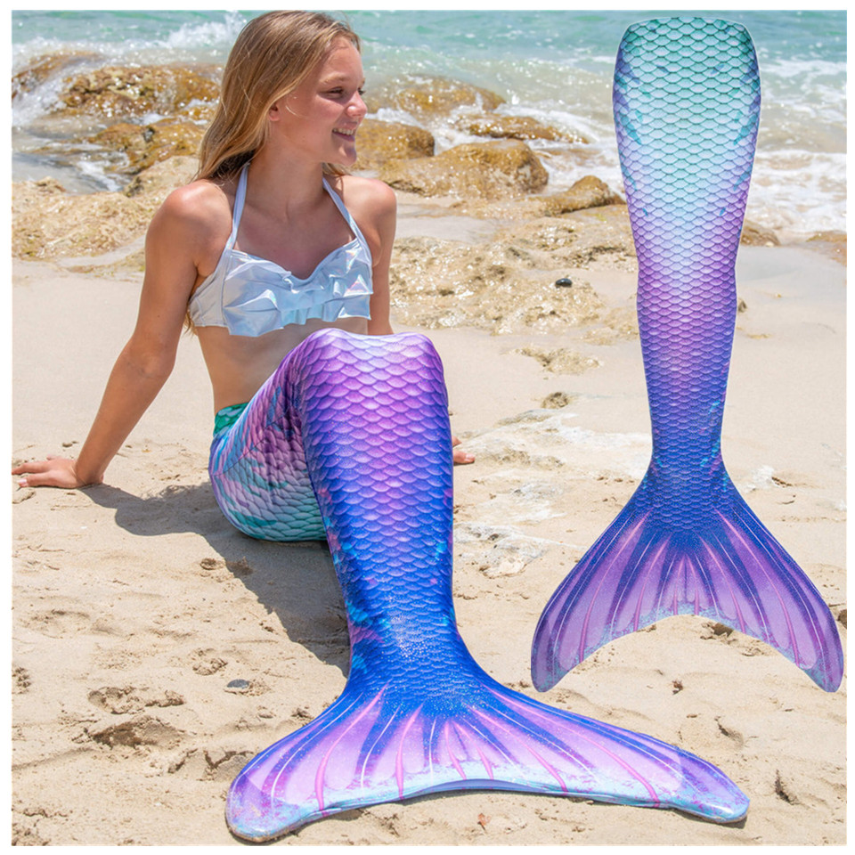 Children Mermaid Tails For Swimming Adults Girls Swimmable Costume Cosplay Bathing Beach Swimsuit Summer Swimwear Tails Clothes