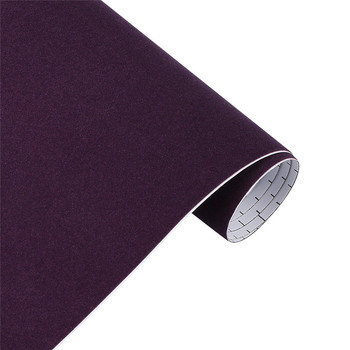10/30*100cm Suede Vinyl Film Velvet Fabric Car Change Color Sticker Adhesive DIY Decoration Decal Auto Motorcycle Accessories - Purple, 10x100cm