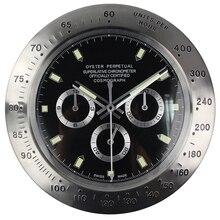цена на Metal Watch Shape Wall Clock Wristwatch Home Decoration Calender Cool Wall Clock with Date