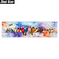 Zhui Star Full Square Drill 5D DIY Diamond Painting Cartoon Birds 3D Embroidery Set Cross Stitch