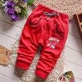 2016 Primavera y Otoño Nuevo Bebé Patrón De Los Pantalones Del Deporte Del Algodón Pantalones Niños Bebés/de las muchachas 0-2 Año