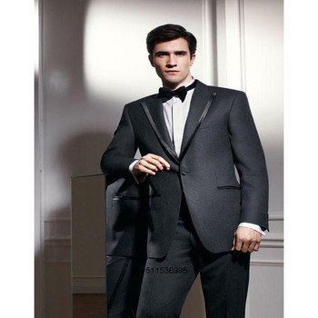 Custom Made Man Suits Black Edge Jacket For Wedding Suits 1 Button Groom Tuxedos Groomsmen Suits Man Clothes(Jacket+pants)
