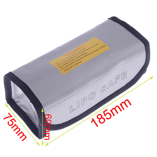 High Quality Square LiPo Safe Battery Charging Box Guard Bag Sack Pouch Fire Resistant 185x75x60mm For RC Battery image