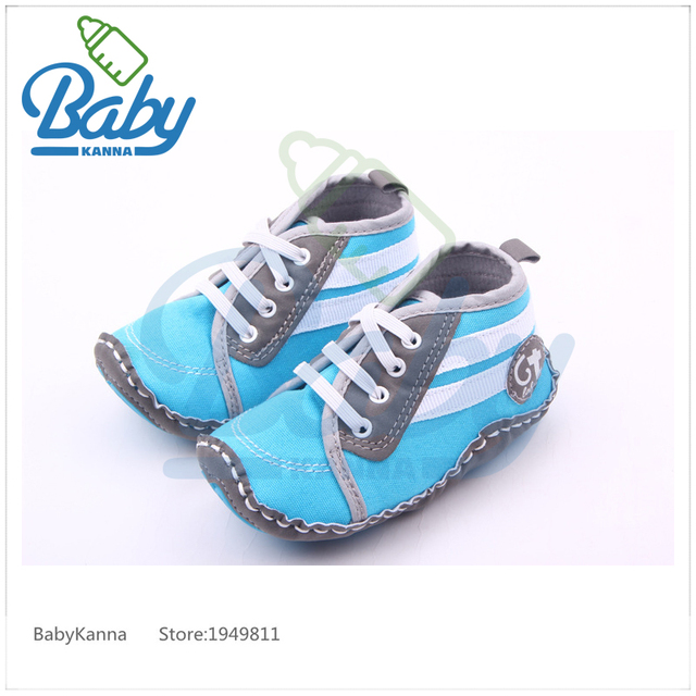 2017 Latest Fashion Handmade Baby Boy Shoes Non-Slip Baby First Walker Shoes Soft Rubber Sole Canvas Sneaker All Seasons 11-13cm