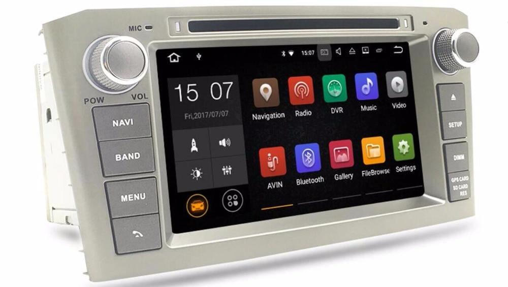 Новый 2 г Оперативная память android7.1 dvd-плеер GPS навигации Мультимедиа Стерео для Toyota Avensis T25 2003-2008 Авто радио аудио головного устройства