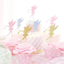5pcs/lot Magic elf Birthday Party Cake Toppers Cupcake Topper  Decorations Baby Shower Kids Favors