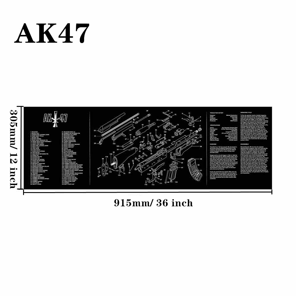 Большой чистящий коврик для ружья AR15 AK47 Glock 1911 SIG винтовка пистолет оружейный оружейник разборка ремонт набор инструментов для сборки скамьи колодки - Цвет: AK47
