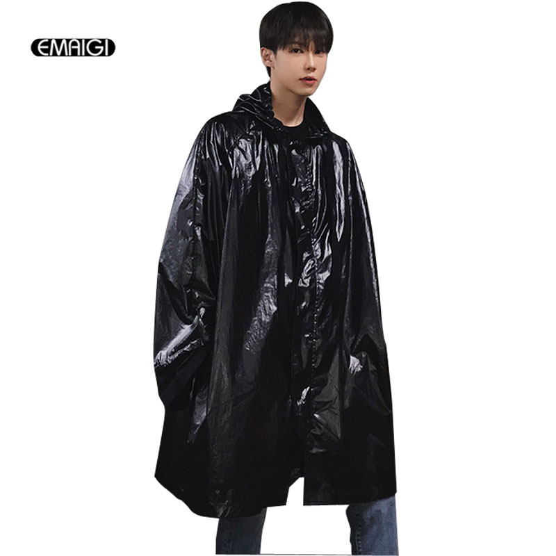 Summer Men Hooded Sunscreen Trench Coat Male Women Fashion Hip Hop Casual Loose Long Car ...