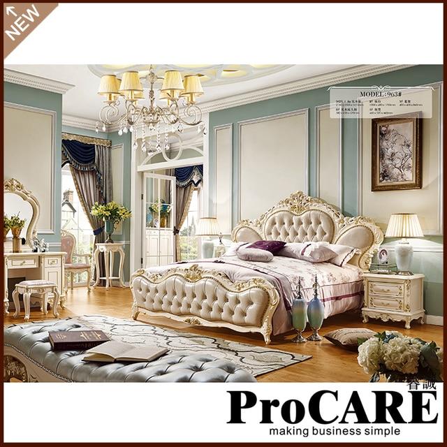 New Model Bedroom Furniture Antique Luxury Royal Leather Headboard Bedroom Furniture Set Bedroom Sets Aliexpress