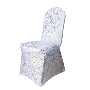 100 шт./лот бронзовое покрытие для стула эластичные спандекс золотые Цветочные стулья с принтом для свадебного банкета покрытие для стула Де...