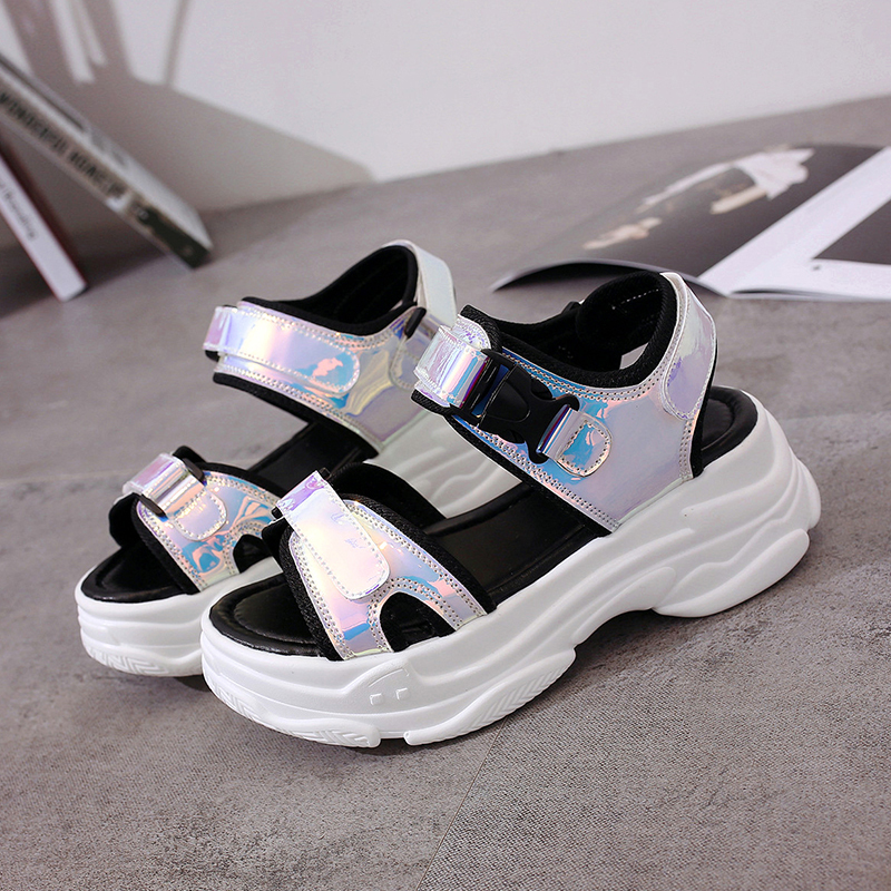 HTB1ThZwMZfpK1RjSZFOq6y6nFXau Sexy Open toed Women Sport Sandals Wedge Hollow Out Women Sandals Outdoor Cool Platform Shoes Women Beach Summer Shoes 2019 New