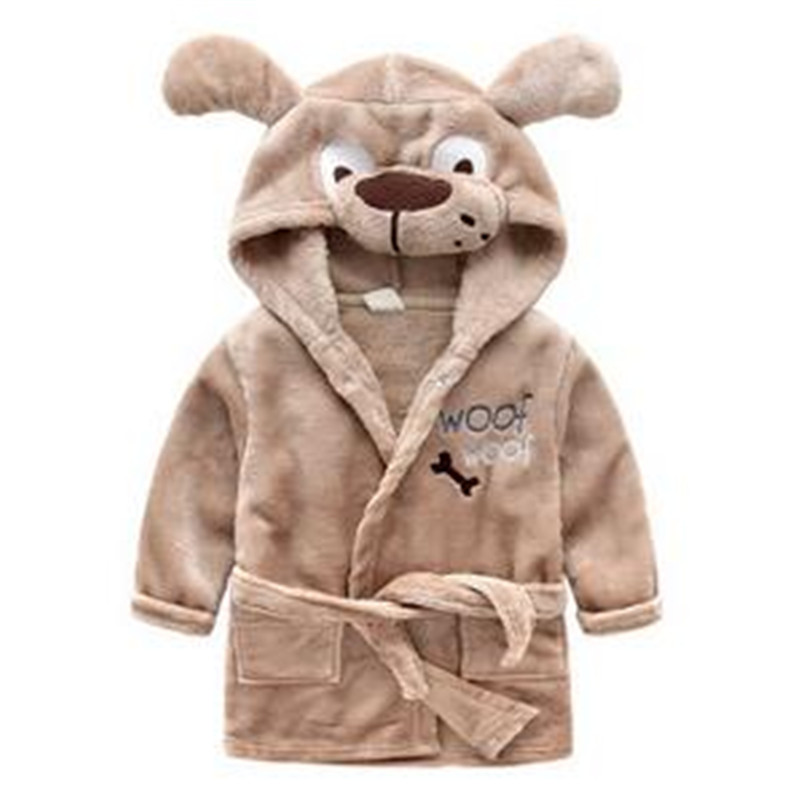 Berymond new childrens robe cartoon animal shape boy girls bathrobe baby pajamas home clothes Kids Robes Sleepwear
