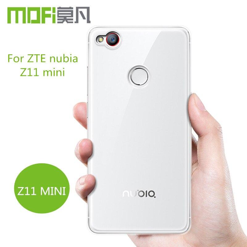ZTE Z11 Mini чехол ТПУ задняя крышка MOFI оригинальный ZTE Z11 Nubia Mini чехол аксессуары прозрачный untrathin прозрачный тонкий кожи 5 дюймов