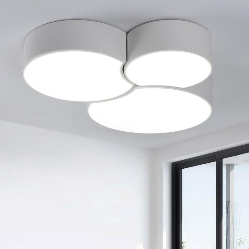 Modern opbouw plafondlamp led panel wit zwart voor for Plafondverlichting