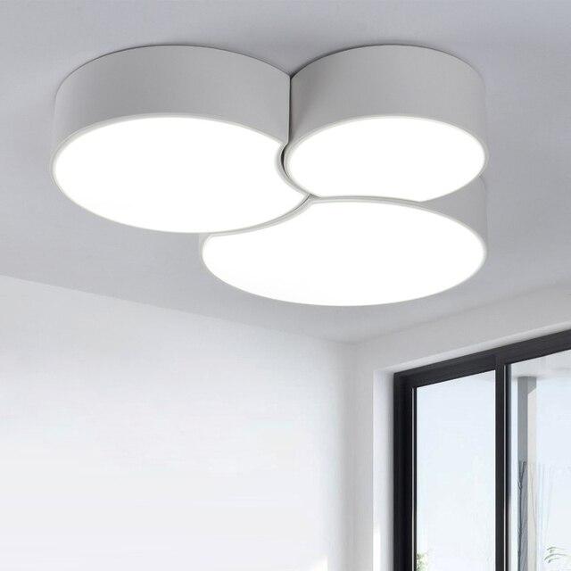 Moderne deckenleuchte aufbau LED panel Weiß/Schwarz für bad ...