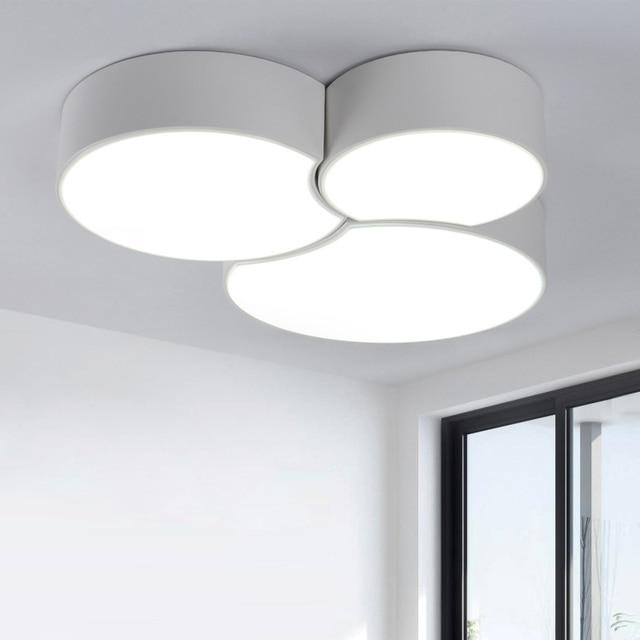 Panneau de LED de plafonnier monté par surface moderne blanc/noir ...
