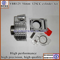 Free shipping new and high quality 125cc 54mm YBR125 cylinder kit