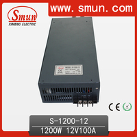 1200W 12V 100A Single Output Switching Power Supply with CE ROHS from China Supplier Industrial and Led Used