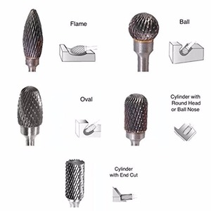 """Image 5 - 10pcs 1/8"""" Tungsten Carbide 3mm Drill Bits Rotary Burrs Metal Diamond Grinding Woodworking Milling Cutters For Drill Bits"""
