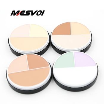 Concealer Palette Makeup Contour  Pro 1pcs 3 color Cream Camouflage Concealer 16 g Full Size